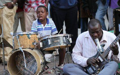 מוסיקאי רחוב מזימבבואה